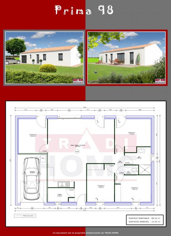 """Modèle de maison  """"Modèle de maison 5 pièces PRIMA 98 M²"""" à partir de 5 pièces Charente par TRADI HOME CHABANAIS"""