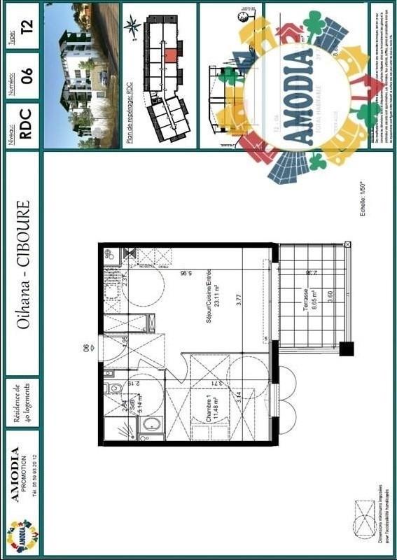 Vente appartement Ciboure 159000€ - Photo 1