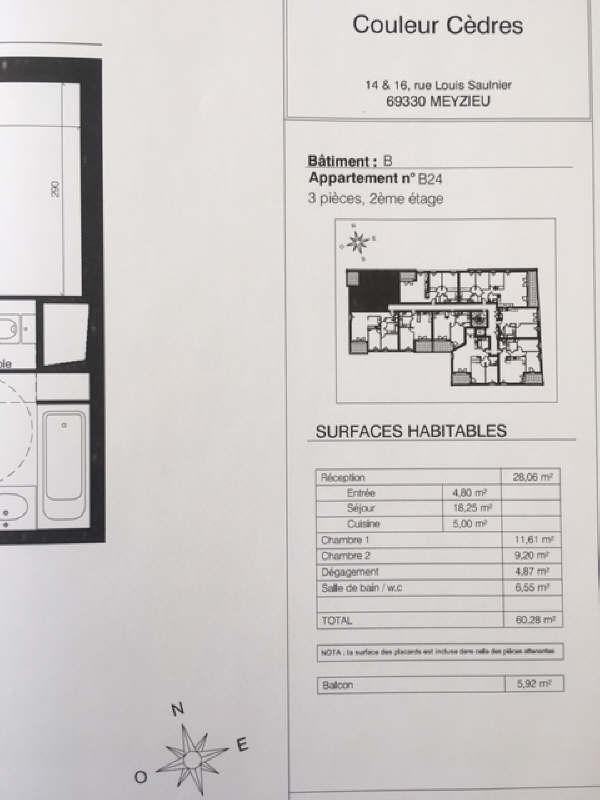 Location appartement Meyzieu 705€ CC - Photo 3