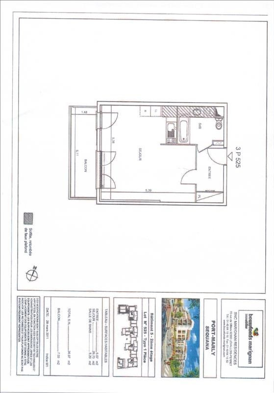 Location appartement Le port marly 824€ CC - Photo 3