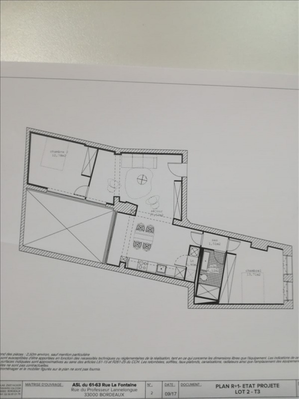 Sale apartment Bordeaux 389 205€ - Picture 2