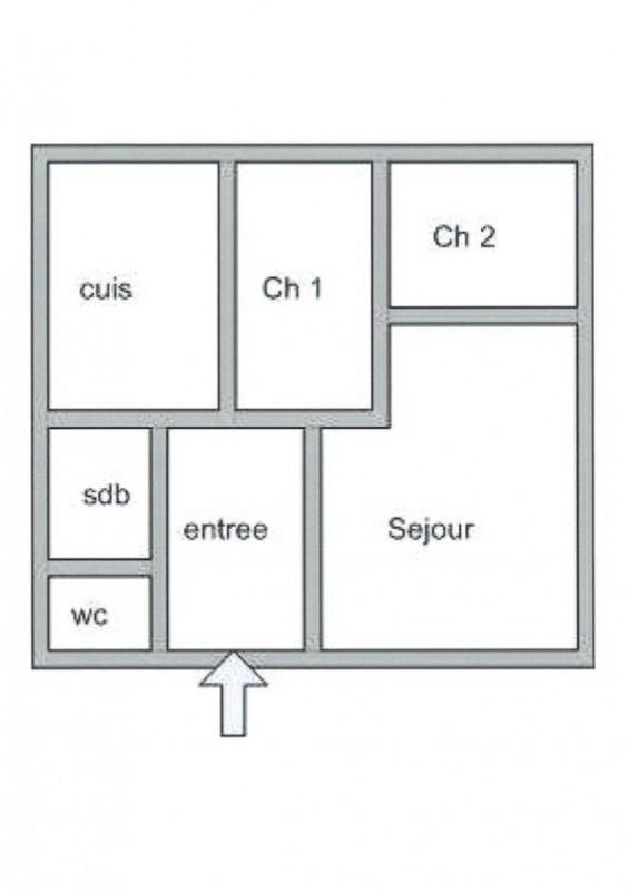 Rental apartment Lyon 2ème 1010€ CC - Picture 1