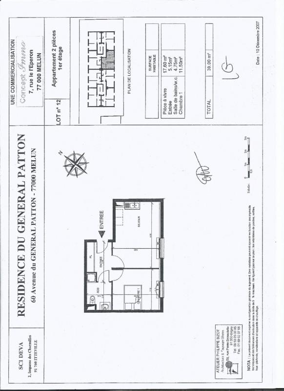 Rental apartment Melun 647€ CC - Picture 2