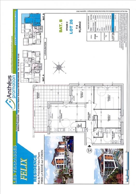 Vente appartement La roche-sur-foron 346000€ - Photo 2