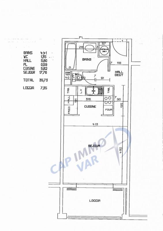 Sale apartment Le beausset 105000€ - Picture 7