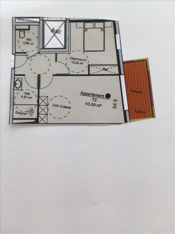 Venta  apartamento Charbonnieres les bains 232686€ - Fotografía 4