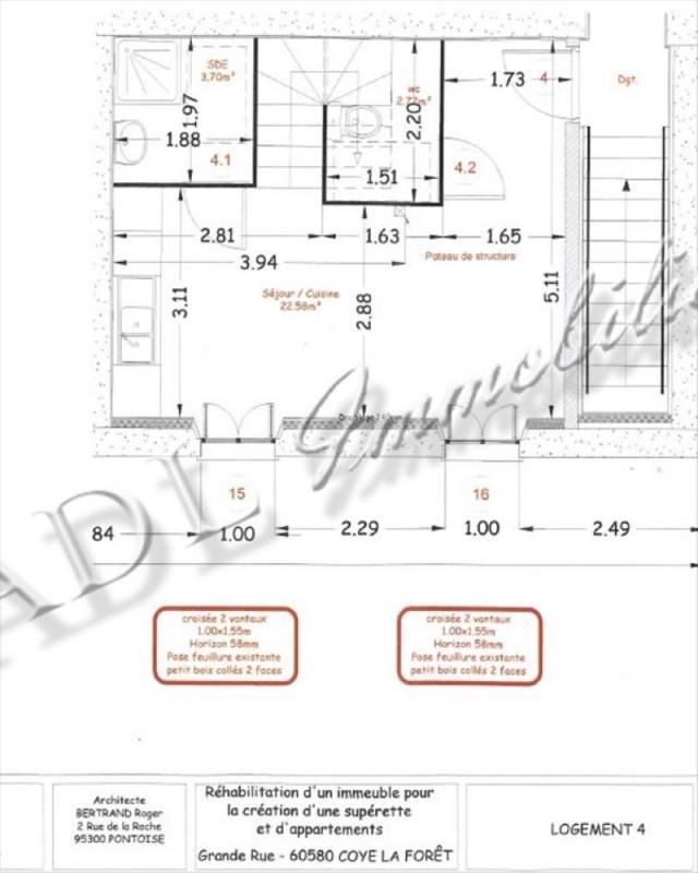 Sale apartment Coye la foret 198000€ - Picture 4