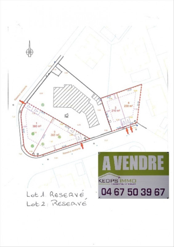 Sale site Perols 140 000€ - Picture 2