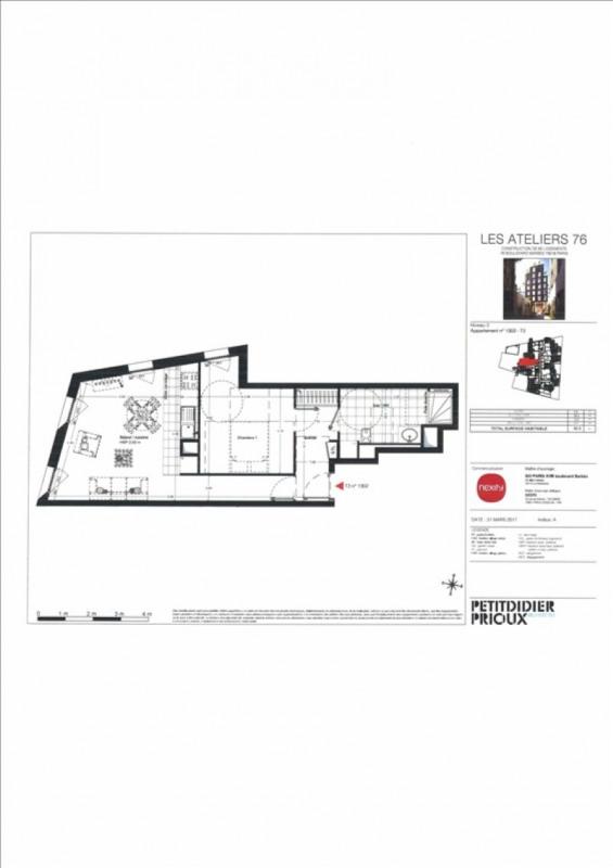 Produit d'investissement appartement Paris 18ème 435000€ - Photo 4