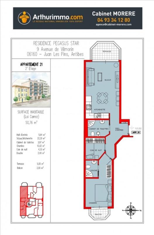Deluxe sale apartment Juan les pins 294000€ - Picture 4