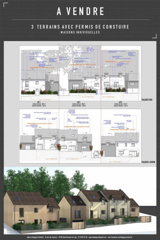 Venta  terreno Le mesnil le roi 395000€ - Fotografía 1