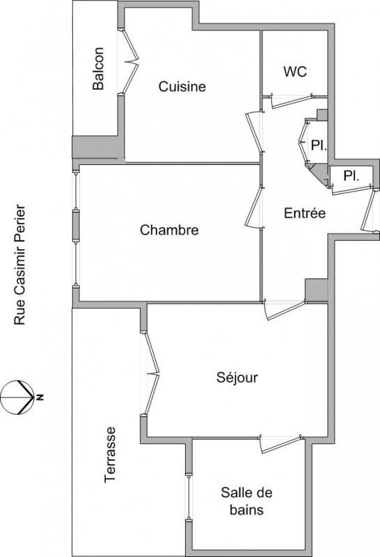 Location appartement Lyon 2ème 694€ CC - Photo 2