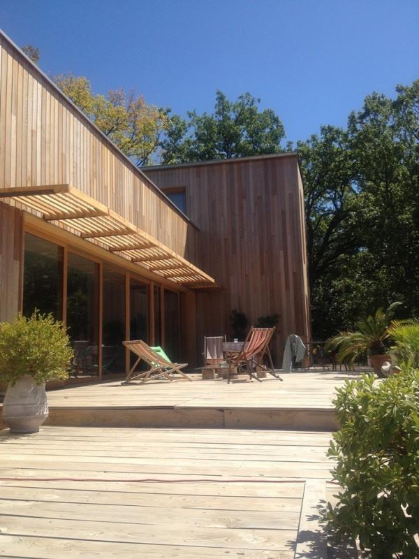 """Modèle de maison  """"Construction de maisons ossature bois contemporaines"""" à partir de 5 pièces Gard par GINKGO"""