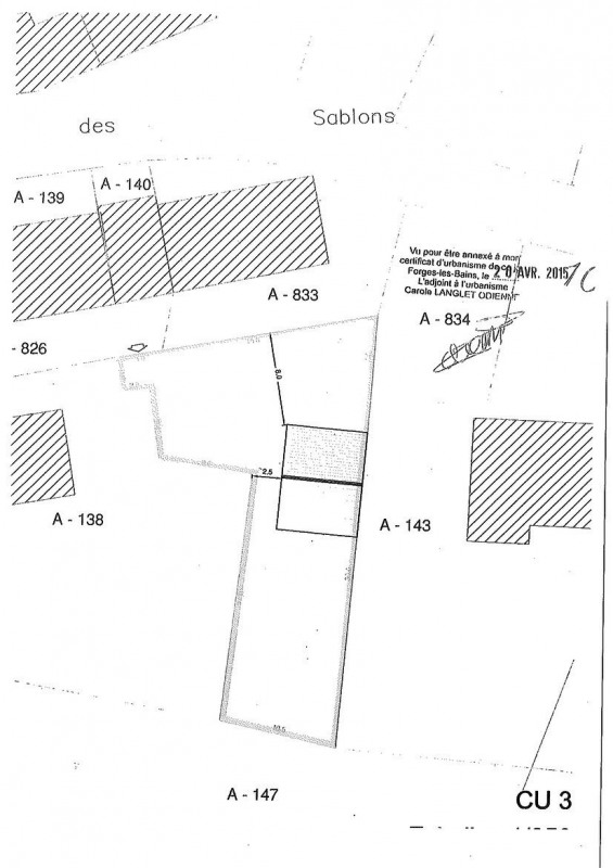 Vente terrain Forges les bains 110000€ - Photo 1