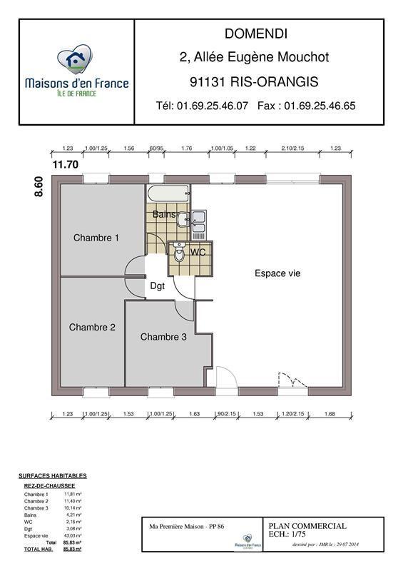 Maison  5 pièces + Terrain 400 m² Auneau par MAISONS D'EN FRANCE