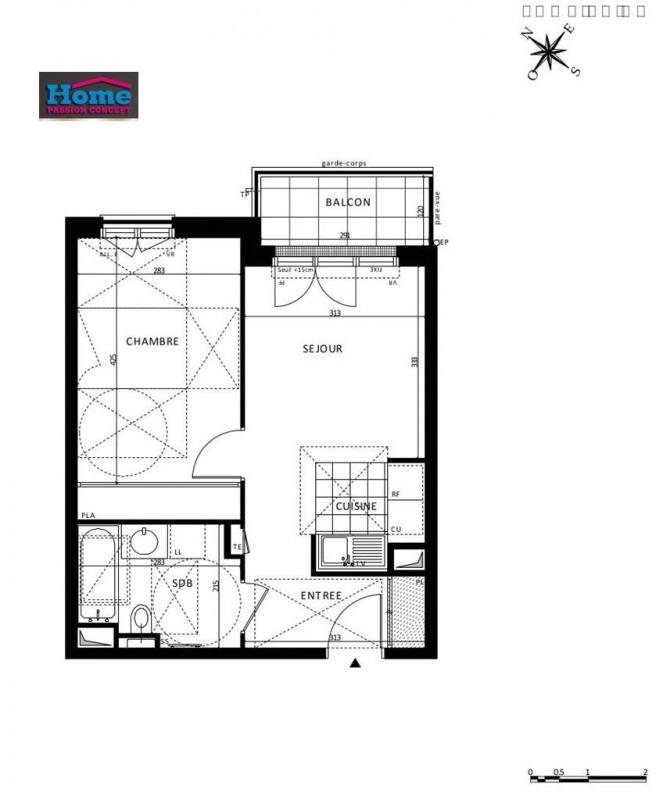 Vente appartement Rueil malmaison 307000€ - Photo 1