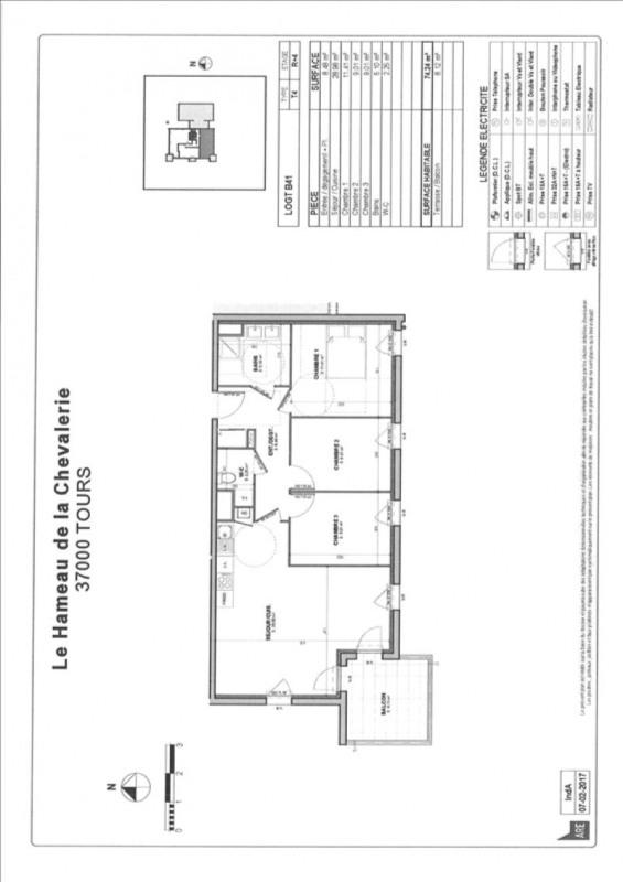 Vente appartement Tours 227000€ - Photo 2