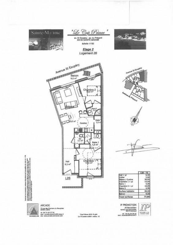 Rental apartment Sainte maxime 1050€ CC - Picture 1