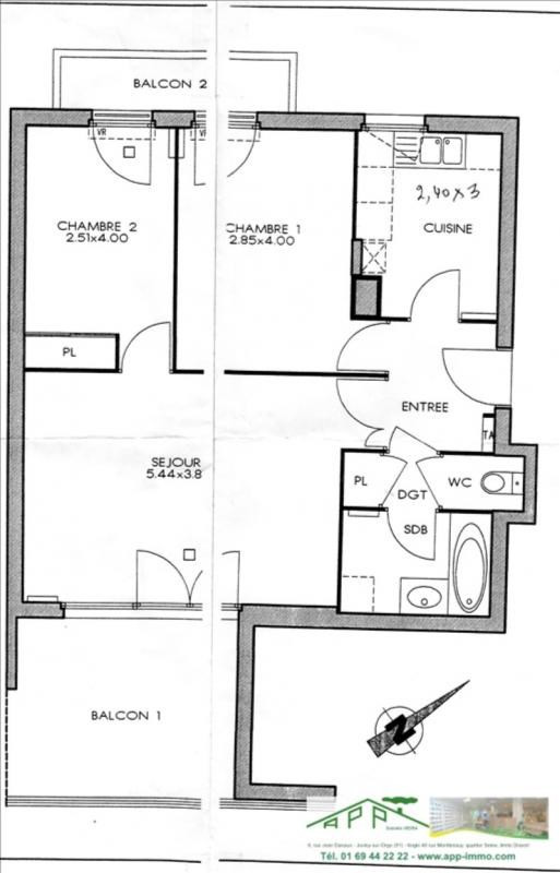 Deluxe sale apartment Viry chatillon 269000€ - Picture 7