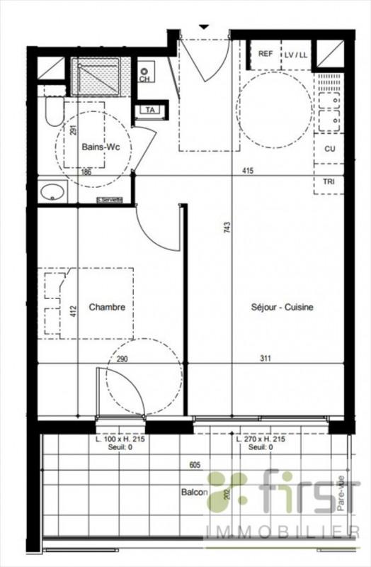 Vente appartement Vetraz monthoux 281000€ - Photo 2