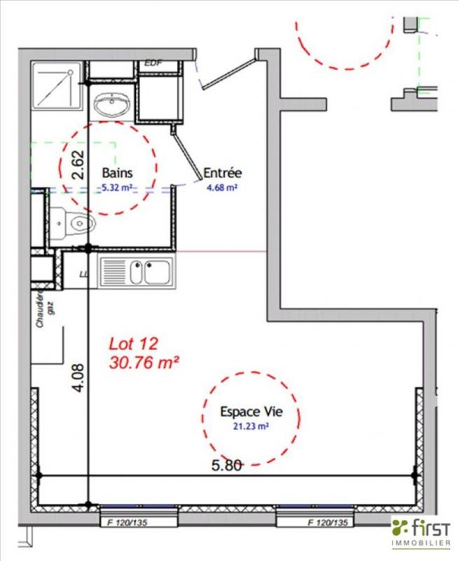 Sale apartment Balme de sillingy 134200€ - Picture 2