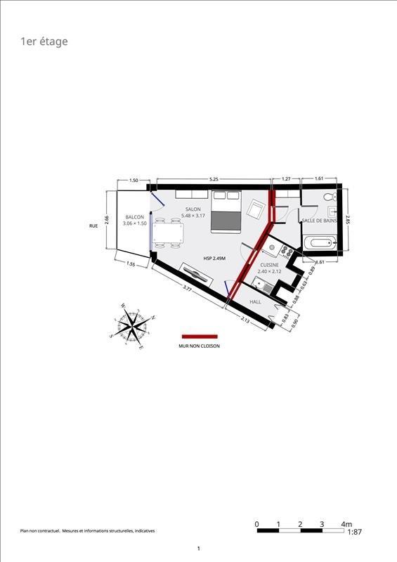 Venta  apartamento Paris 15ème 335000€ - Fotografía 7