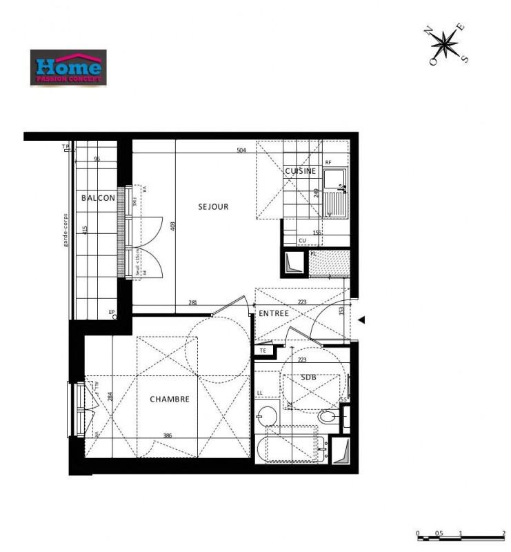 Vente appartement Rueil malmaison 305000€ - Photo 1