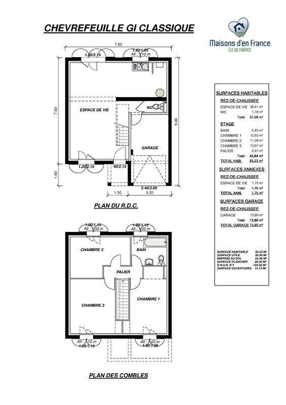Maison  5 pièces + Terrain 585 m² Neauphle-le-Château par MAISONS D'EN FRANCE