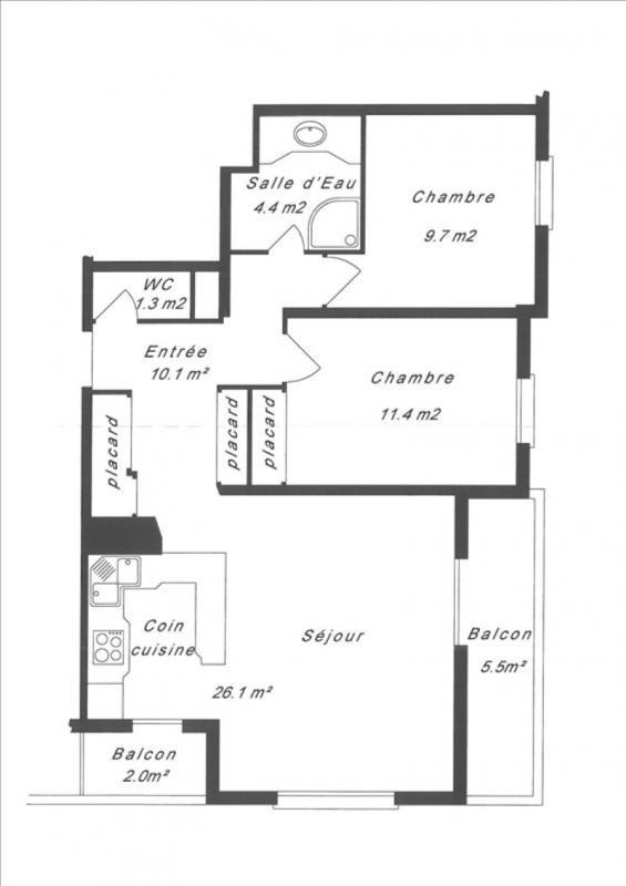 Sale apartment Le raincy 272000€ - Picture 4