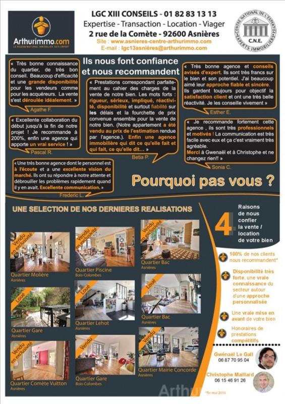 Rental parking spaces Asnieres sur seine 90€ CC - Picture 5