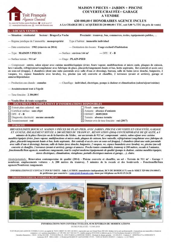 Vente maison / villa Bruges 630000€ - Photo 19