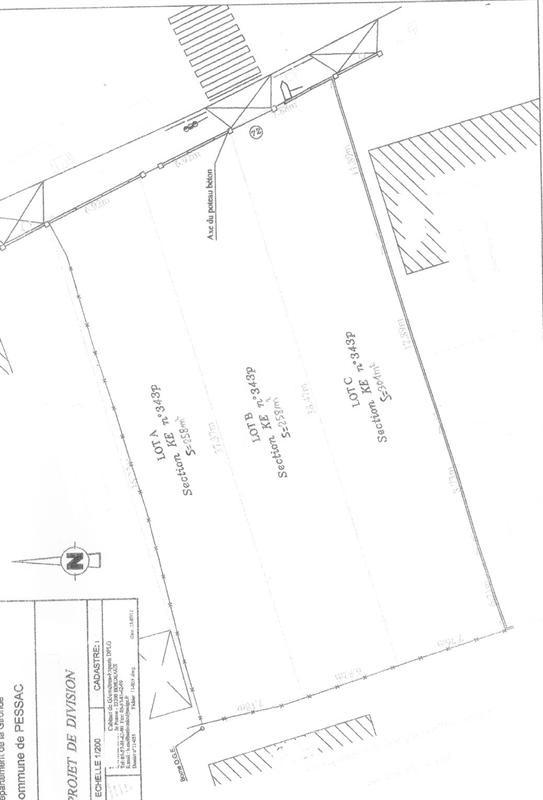 Vendita terreno Pessac 165000€ - Fotografia 1