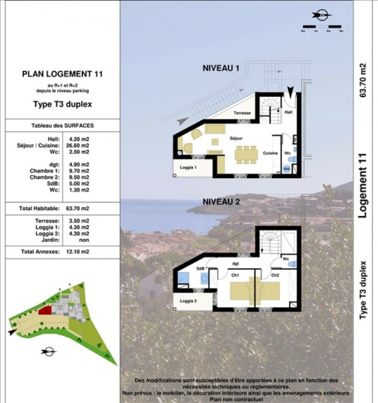Vente appartement Collioure 325500€ - Photo 3