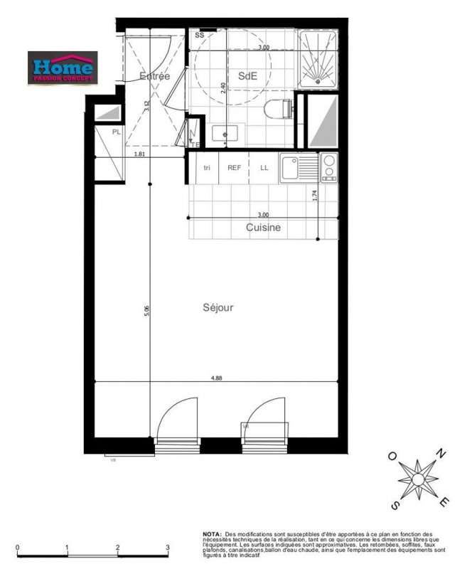 Vente appartement Rueil malmaison 298000€ - Photo 1