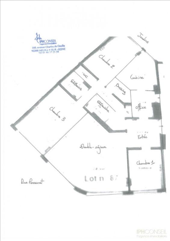 Vente de prestige appartement Neuilly sur seine 1248000€ - Photo 6
