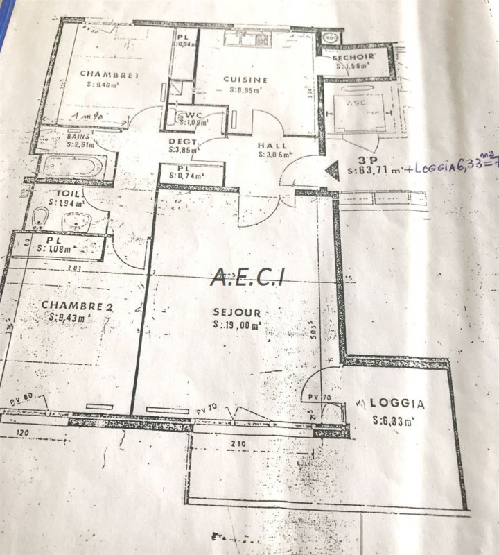 Vente appartement Colombes 265000€ - Photo 7