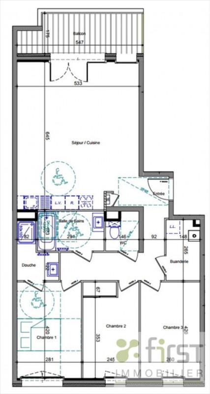 Vente appartement Annemasse 395000€ - Photo 2
