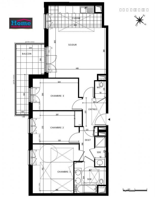 Sale apartment Rueil malmaison 599000€ - Picture 1