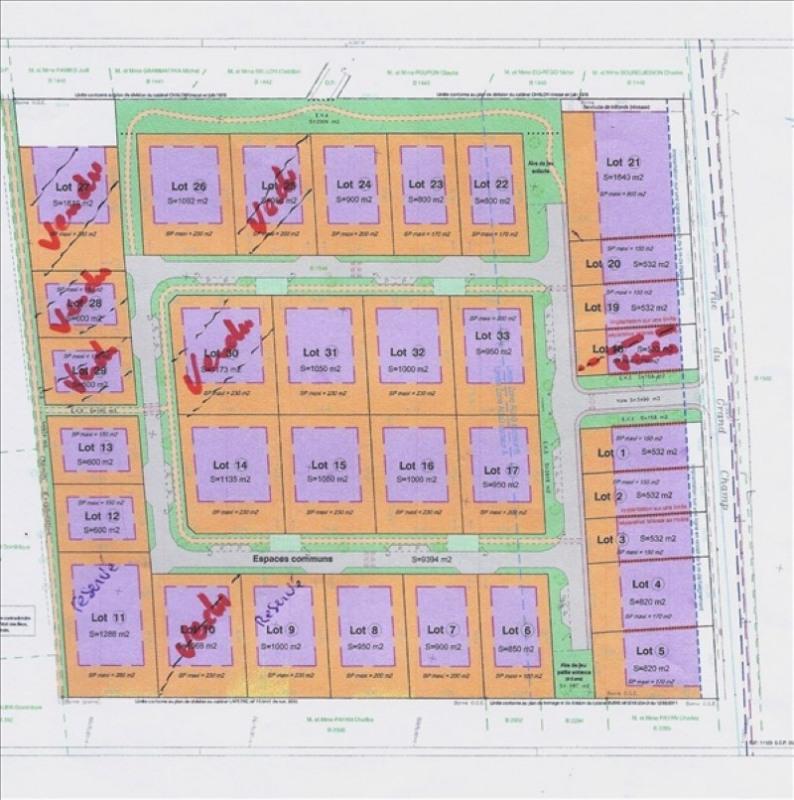 Verkauf grundstück St simeon de bressieux 69000€ - Fotografie 1