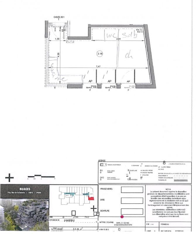 Location appartement Paris 13ème 1095€ CC - Photo 4