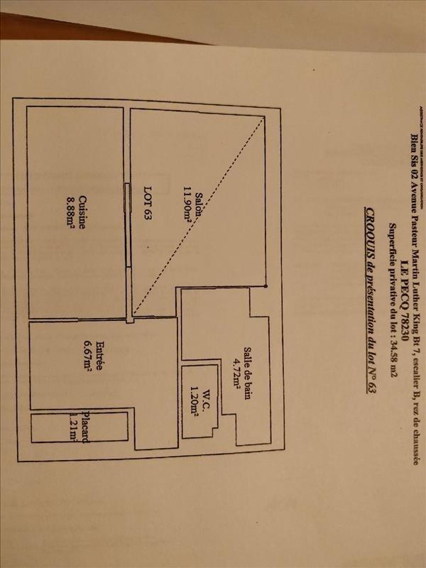 Sale apartment Le pecq 130000€ - Picture 7
