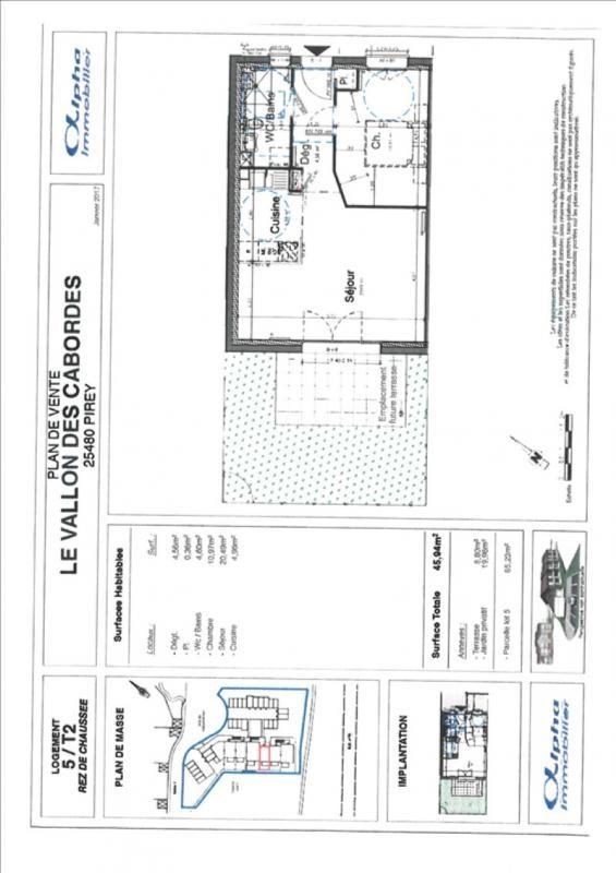 Vente appartement Pirey 129500€ - Photo 1