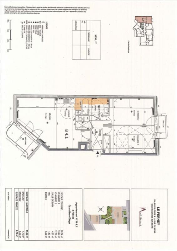 Rental apartment Asnieres sur seine 1485€ CC - Picture 2