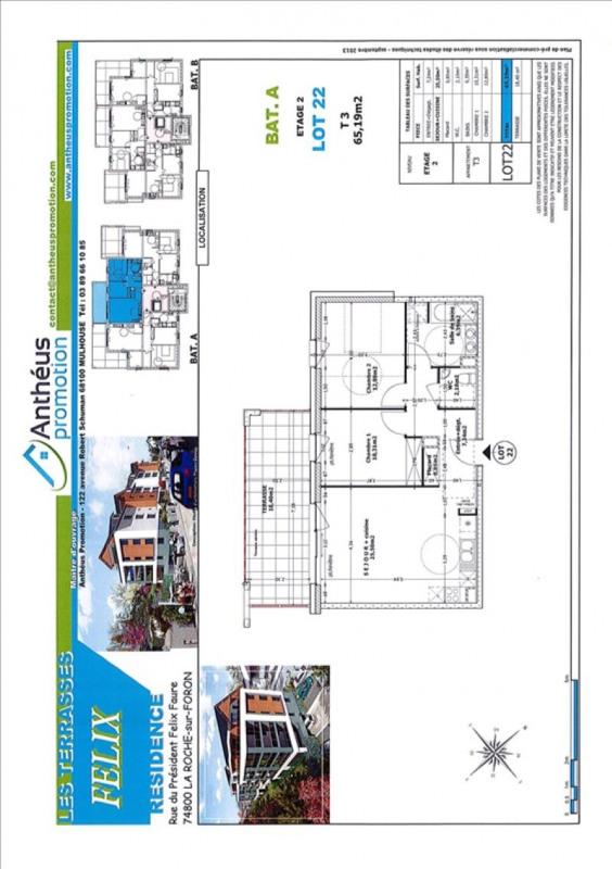 Vente appartement La roche-sur-foron 254000€ - Photo 2