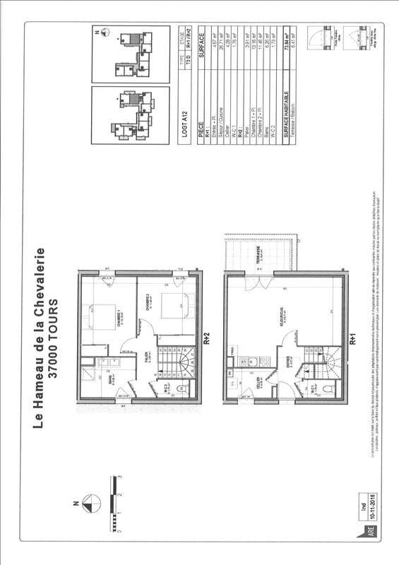 Vente appartement Tours 217000€ - Photo 2