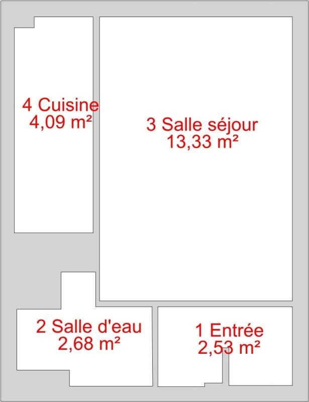 Sale apartment Paris 14ème 220 000€ - Picture 1