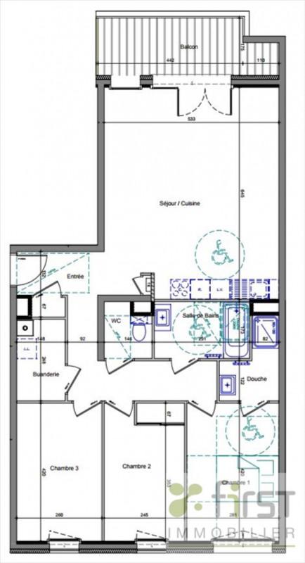 Vente appartement Annemasse 401000€ - Photo 2