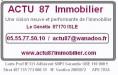 ACTU 87 IMMOBILIER