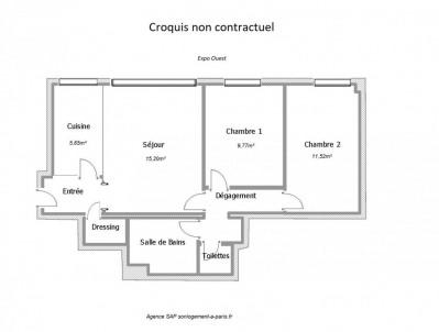 3 pièces - Quartier Épinettes - Paris 17ème