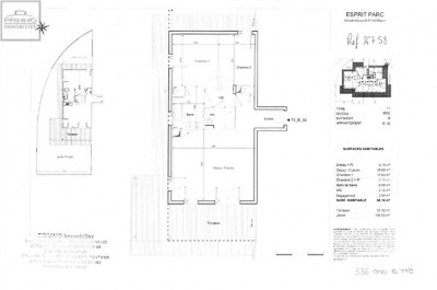 Appartement DARDILLY 3 Pièces 67.9 m²